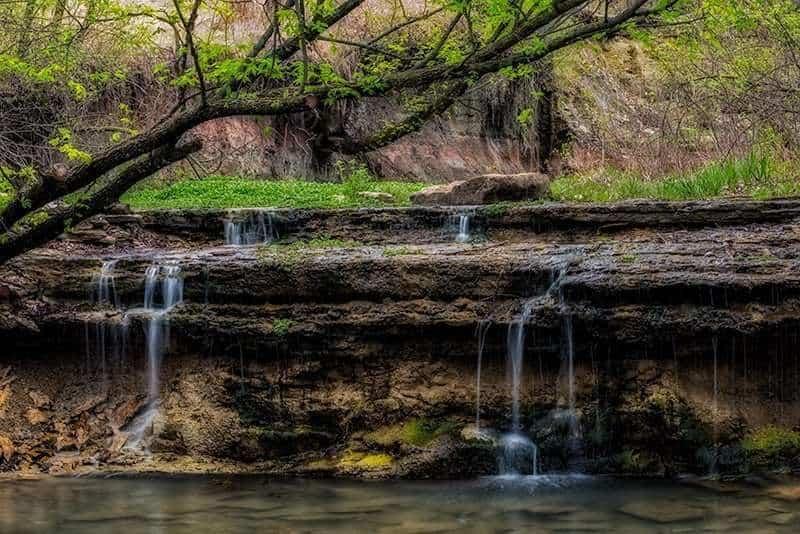 Waterfall at Chase County State Lake
