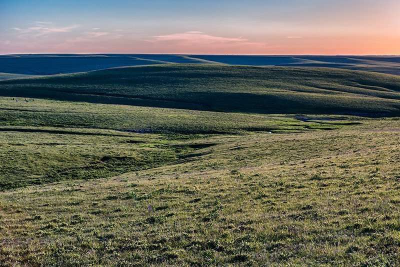 Early spring in a remote area of Kansas Flint Hills.