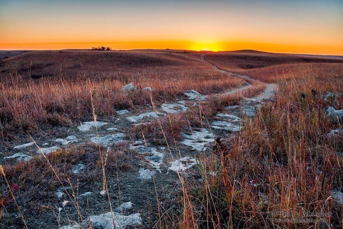 Kansas Flint Hills, Konza Prairie | ©Brad Mangas